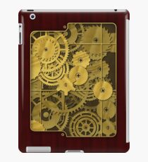 Steampunk brass and rosewood finish iPad Case/Skin