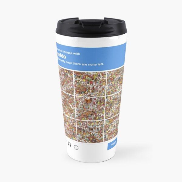 Simple Captcha: Select All images with Waldo  Travel Mug