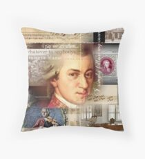 mozart Throw Pillow