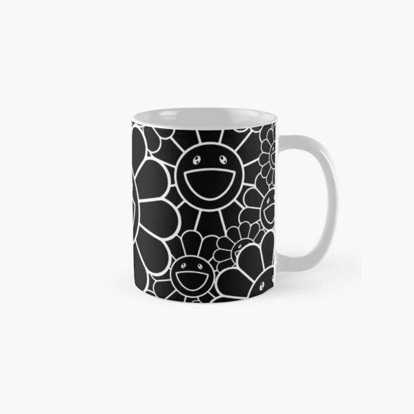 flower mask takashi murakami black white Classic Mug
