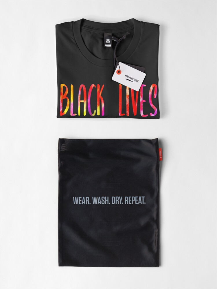Alternate view of BLACK LIVES MATTER FOREVER • Tie Dye Look • COLORFUL PROTEST SLOGAN Premium T-Shirt
