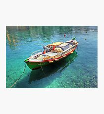 Little fishing boat from Crete  Photographic Print