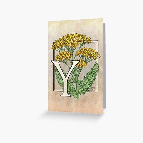 Y is for Yarrow card Greeting Card