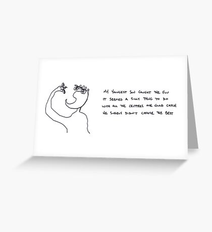 flu  Greeting Card