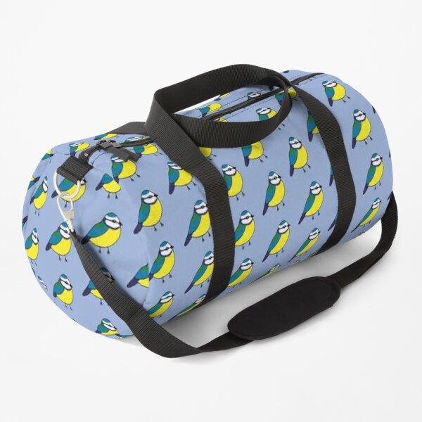 Bluetit print 2 - on blue Duffle Bag