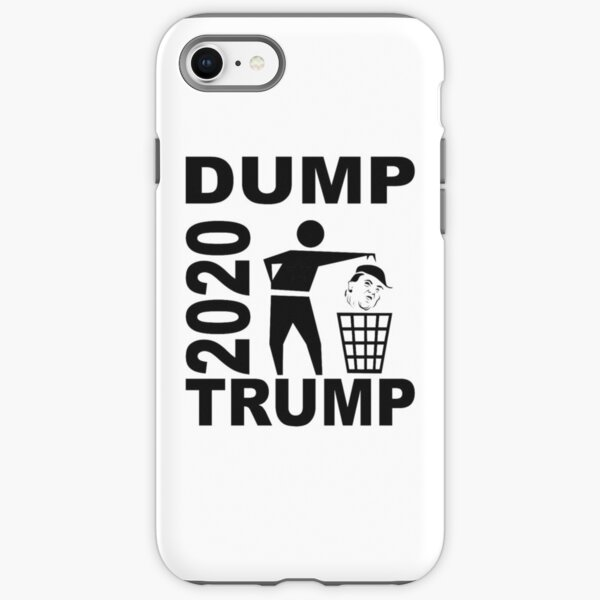 Dump Trump 2020 rec monochrome schwarz 002 iPhone Robuste Hülle