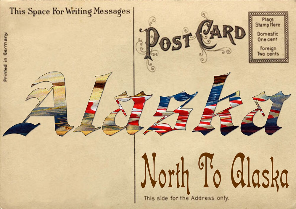 Old Postcard Alaska by uniqueartist