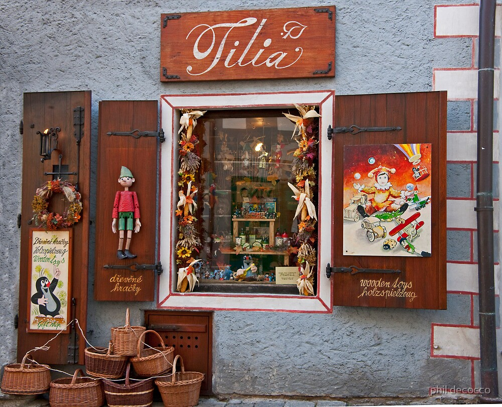 Wooden Toys Shopfront by phil decocco