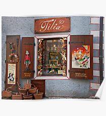 Wooden Toys Shopfront Poster