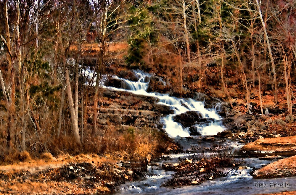 Rustic Waterfall by Rick  Friedle