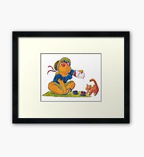 Picknick cat Framed Print