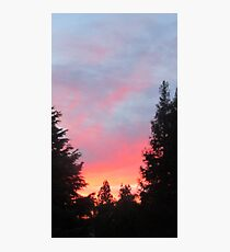 Sunset in the Suburbs  Photographic Print