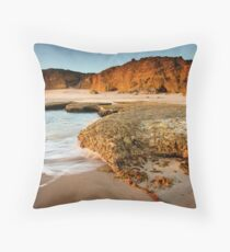 Rocky Point at Torquay Throw Pillow