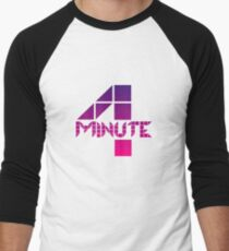 4minute Pink / Purple Gradient Logo Men's Baseball ¾ T-Shirt
