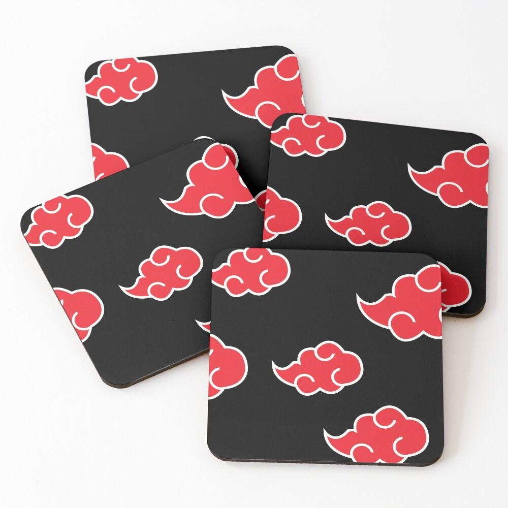 Anime Red Cloud n.a.r.u.t.o Coasters (Set of 4)