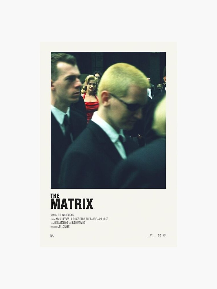 the matrix minimalist movie poster by tanyasanghal