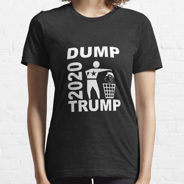 Dump Trump 2020 rec monochrome weiß Essential T-Shirt