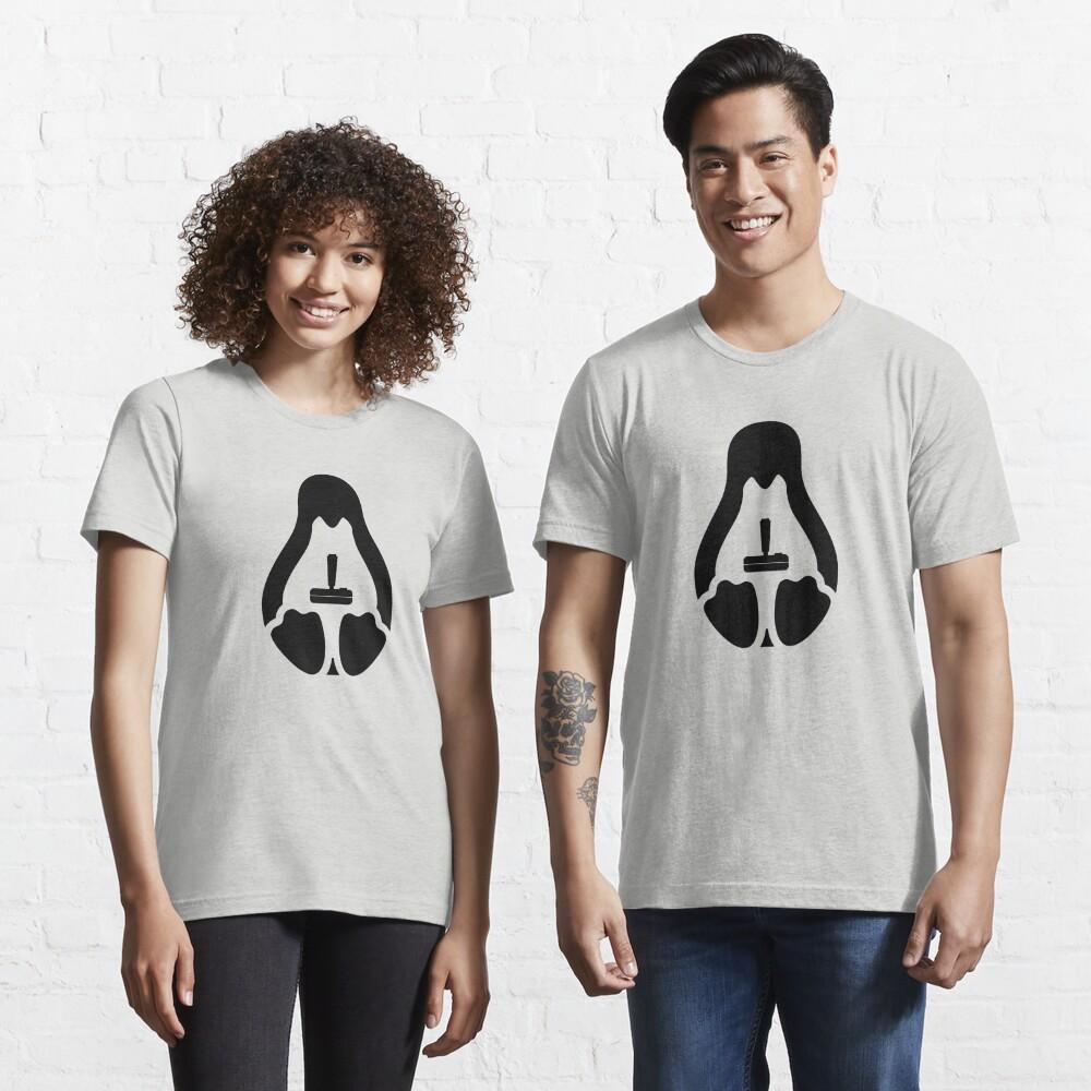 /r/linux_gaming Stycil Tux Shirt (black) Essential T-Shirt