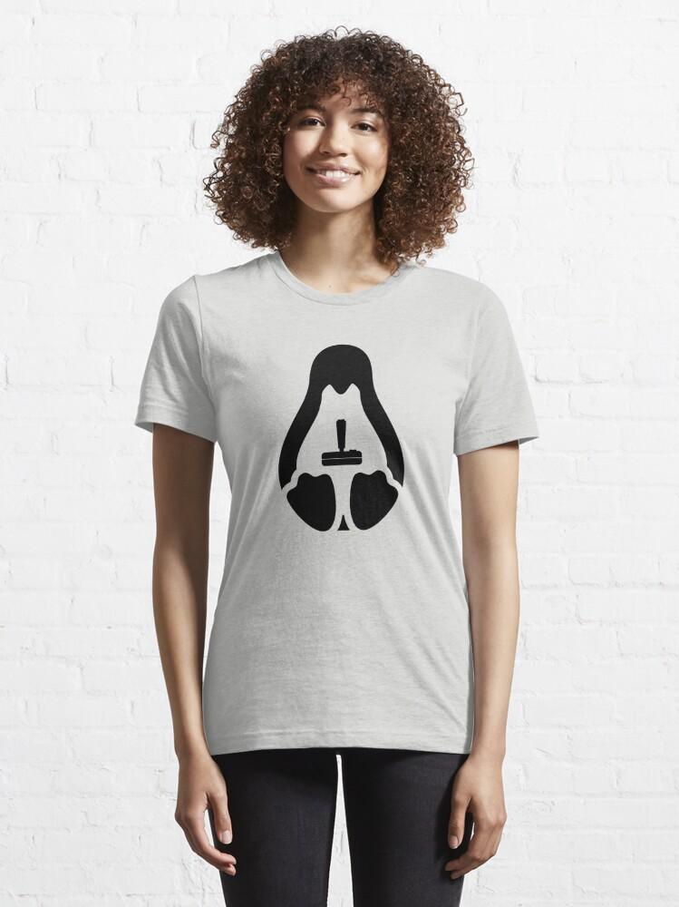 Alternate view of /r/linux_gaming Stycil Tux Shirt (black) Essential T-Shirt