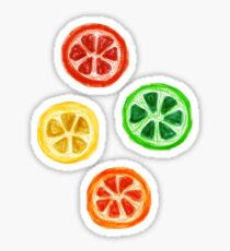 Illustrated Citrus Fruit Sticker Pack Sticker