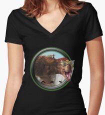ARK SURVIVAL EVOLVED - TREX Women's Fitted V-Neck T-Shirt