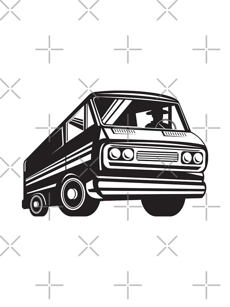Closed Delivery Van Retro by patrimonio