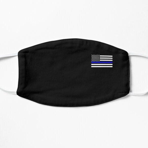 Thin Blue Line Flat Mask