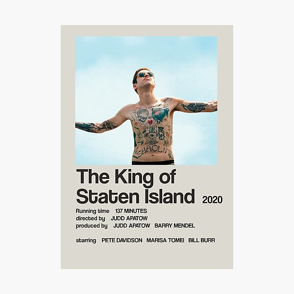 The King of Staten Island - Pete Davidson Minimalist Poster  Photographic Print