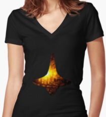 Inception - Spinning Top Cobb's Totem Women's Fitted V-Neck T-Shirt