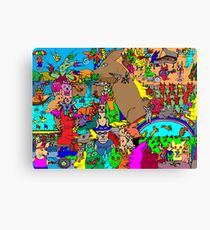 Rabbits on Vacation Canvas Print