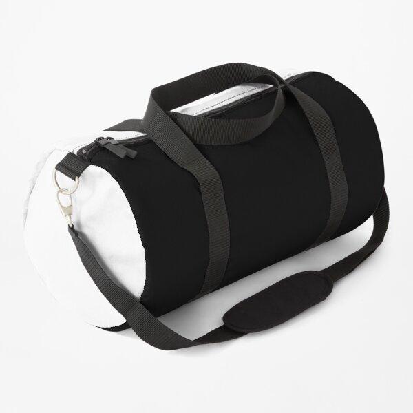 Minimal Black and White Design Duffle Bag