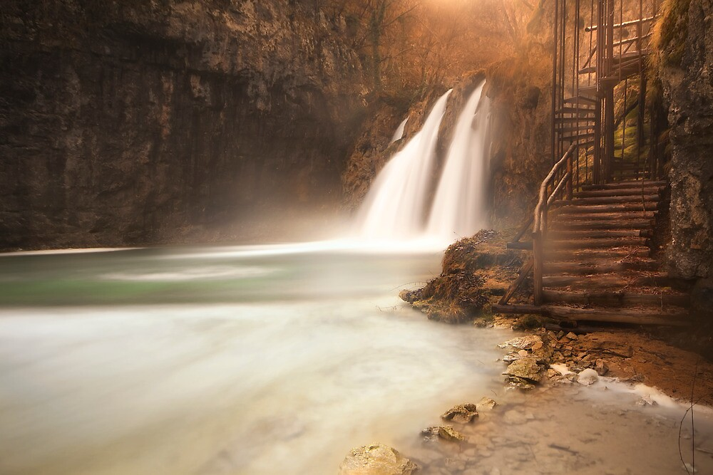 Plitvice waterfall by Ivan  Prebeg
