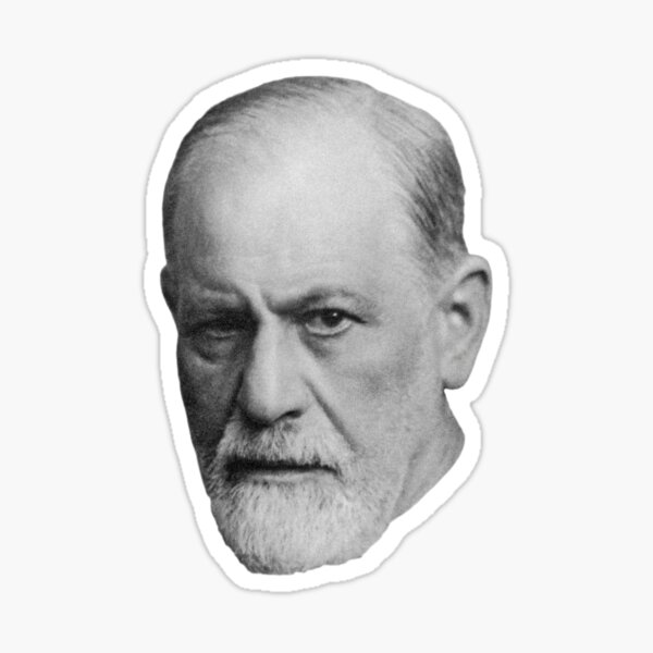 Sigmund Freud -Retouched-Best-Quality-BnW -zwei- Sticker
