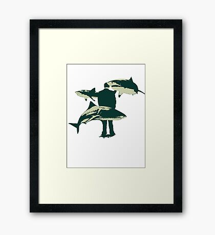 Swimming Framed Print