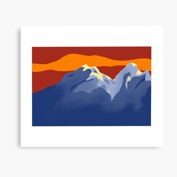 Home in the Mountains Canvas Print