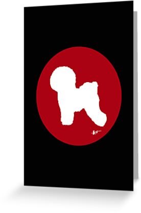 Bichon Frise Silhouette - Red Dot by theresatorres