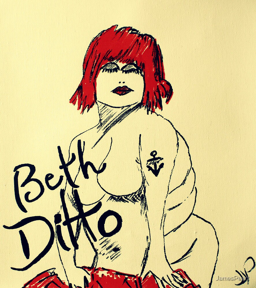 Beth Ditto The Gossip Fine Art Illustration by JamesPeart