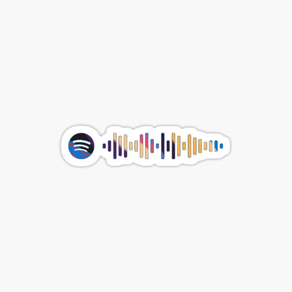 lorde melodrama spotify code - album cover colors Sticker