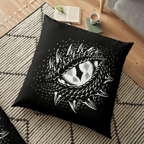 Ojo dragon monocromo eye Floor Pillow