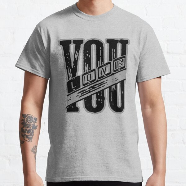 I Love You Black color Classic T-Shirt