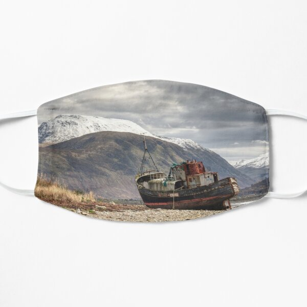 Ben Nevis looming over Corpach wreck Flat Mask