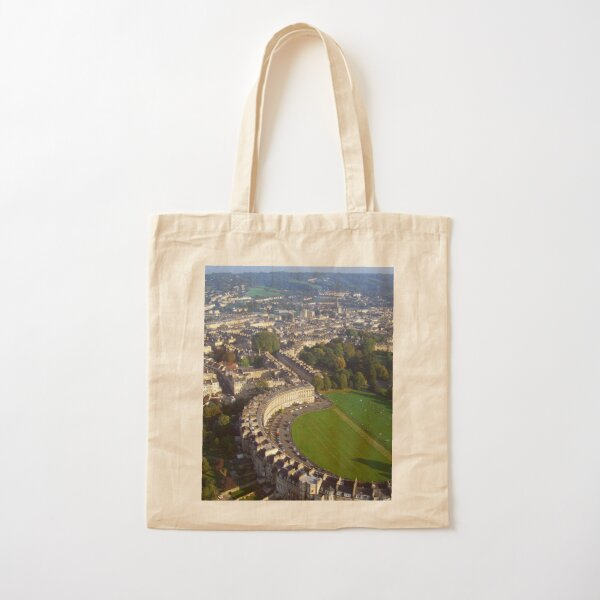 Royal Crescent - Aerial Image of Bath, Somerset, UK  Cotton Tote Bag