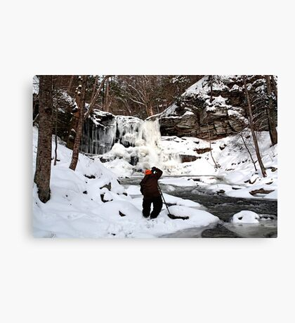 Photographing Sheldon Reynolds In Winter Conditions Canvas Print