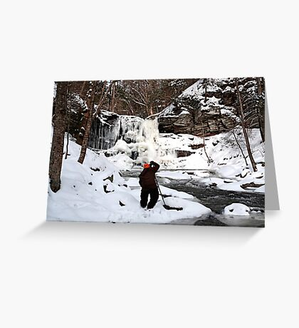 Photographing Sheldon Reynolds In Winter Conditions Greeting Card