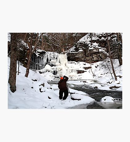 Photographing Sheldon Reynolds In Winter Conditions Photographic Print
