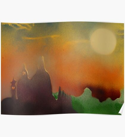 Cathedral in evening sun Poster