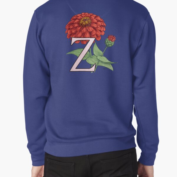 Z is for Zinnia floating Pullover Sweatshirt