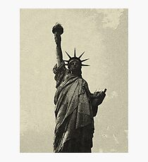 landscape  statue of liberty sketch Photographic Print
