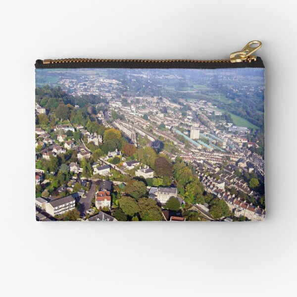 Aerial Image of Bath, Somerset, UK  Zipper Pouch