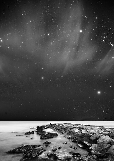 Landscape Stars B&W by biggago